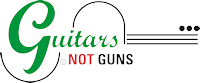 Guitars Not Guns Logo